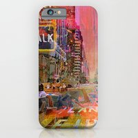 iPhone & iPod Case featuring traffic jam pink by Ganech joe