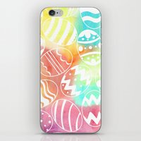 Watercolored Eggs iPhone & iPod Skin
