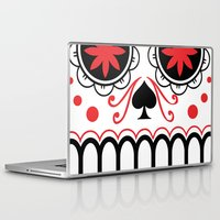 sugar skull Laptop & iPad Skins featuring sugar skull by Diseños Fofo