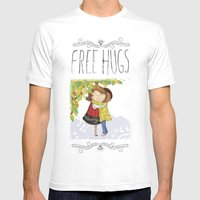 Hug Mens Fitted Tee White SMALL
