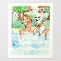 Animal Crossing Tribute Art Print