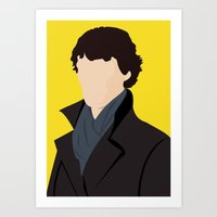 sherlock Art Prints featuring Sherlock by Jessica Slater Design & Illustration