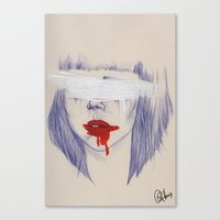 Damaged hearts Canvas Print