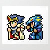 Final Fantasy II - Cecil… Art Print