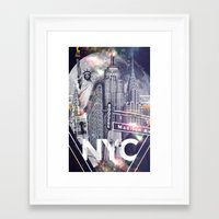 New York Moon Framed Art Print