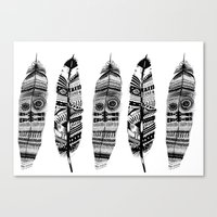 Feather Time  Canvas Print