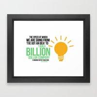 You Can Run A Billion Do… Framed Art Print