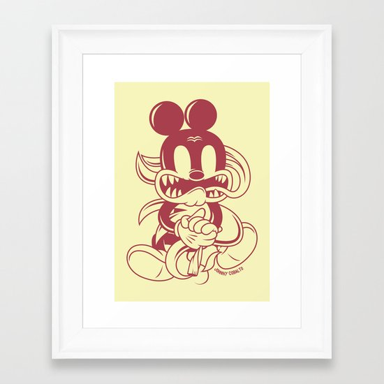 Junkie Mouse Framed Art Print