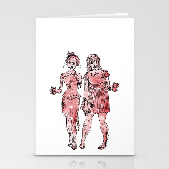 Zombie Bridesmaids Stationery Card