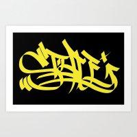 Style Yellow Marker Art Art Print