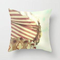 VINTAGE CAROUSEL Throw Pillow