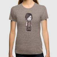 Double D Zombie Hunter Womens Fitted Tee Tri-Coffee SMALL