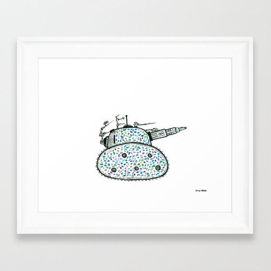 The People Mocked the Tank, Used-Gumming It to Death Framed Art Print