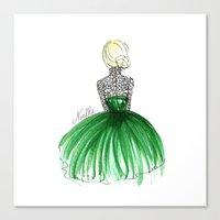 Emerald Dress Canvas Print