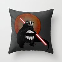 The Panda Menace Throw Pillow