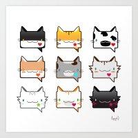 Convo Cats! Art Print