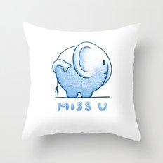 blue elephant Throw Pillow