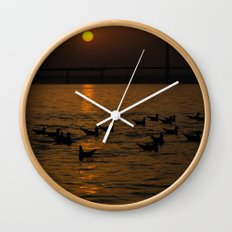 painting a golden picture...  Wall Clock