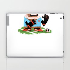 Wooden Robot Valentine Laptop & iPad Skin