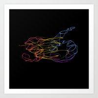 S6 Light-Painted Art Print