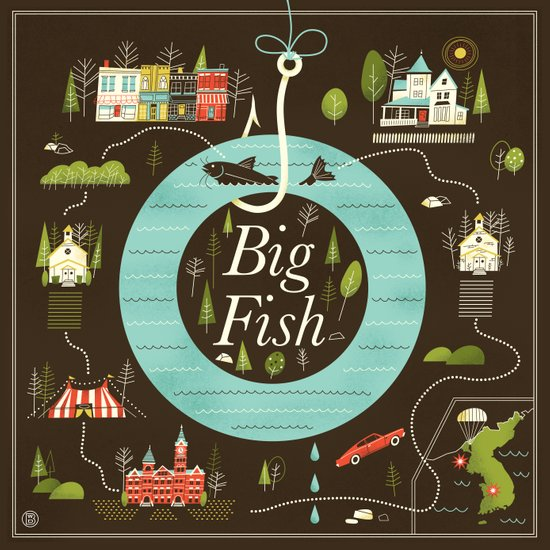 big fish art print by brad woodard society6