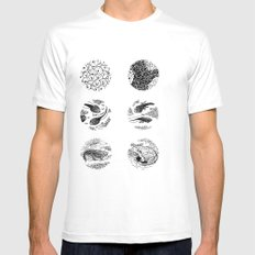 Tadpoles Mens Fitted Tee SMALL White