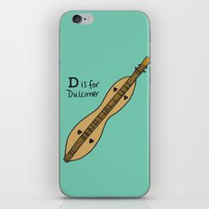 D is for Dulcimer iPhone & iPod Skin