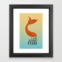 Something Fishy Framed Art Print