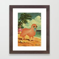 BeacH_PostCArD Framed Art Print