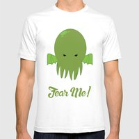 FEAR ME! Mens Fitted Tee White SMALL