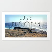 LOVE DEEP  Art Print