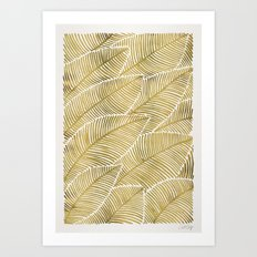 Tropical Gold Art Print
