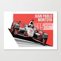 Juan Pablo Montoya - 2015 Indianapolis Canvas Print