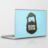 quote Laptop & iPad Skins featuring Beard Season by Chase Kunz