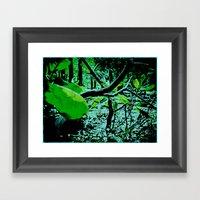 Garden In Eclipse Framed Art Print