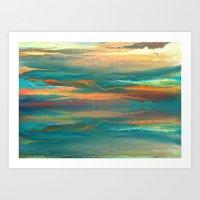 Landscape reflection Art Print