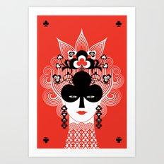 The Queen of clubs Art Print