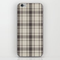 Plaid In Taupe iPhone & iPod Skin