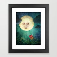 Love you to the Moon Framed Art Print