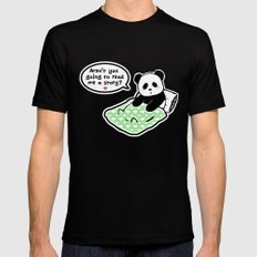 Read panda a story Mens Fitted Tee Black SMALL