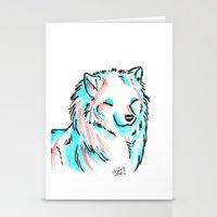 Brush Breeds-Samoyed Stationery Cards