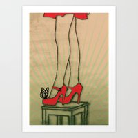 shoes Art Prints featuring shoes by Ezgi Kaya