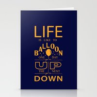 Life is like to balloon Stationery Cards