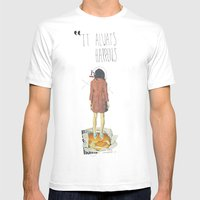 It Always Happens | Coll… Mens Fitted Tee White SMALL