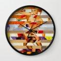 Glitch Pin-Up: Amber Wall Clock