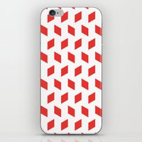 Rhombus Bomb In Poppy Re… iPhone & iPod Skin
