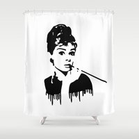 Audrey Hepburn Breakfast At Tiffany's Shower Curtain