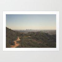 Griffith Park Skyline | … Art Print