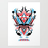An Ancient Deity  Art Print