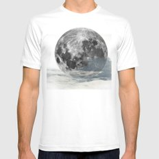 Low Moon Mens Fitted Tee White SMALL